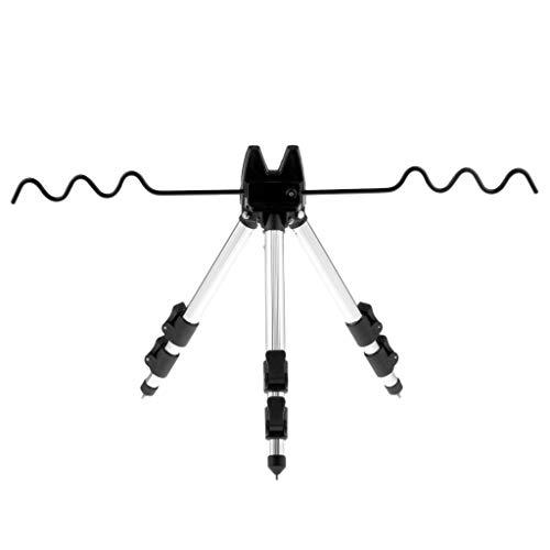 perfk Aluminum Dreibein -Stativ Angelruten Einstellbar Rutenhalter Dreibein Teleskop-Angelrute Stativ