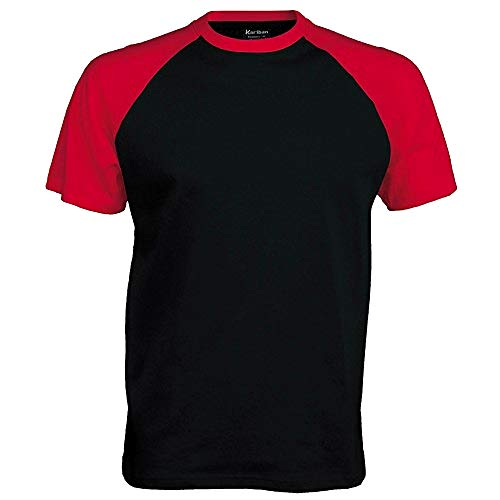 Kariban - Camiseta 2 colores modelos Beísbol/Baseball de manga corta para hombre - 100% Algodón