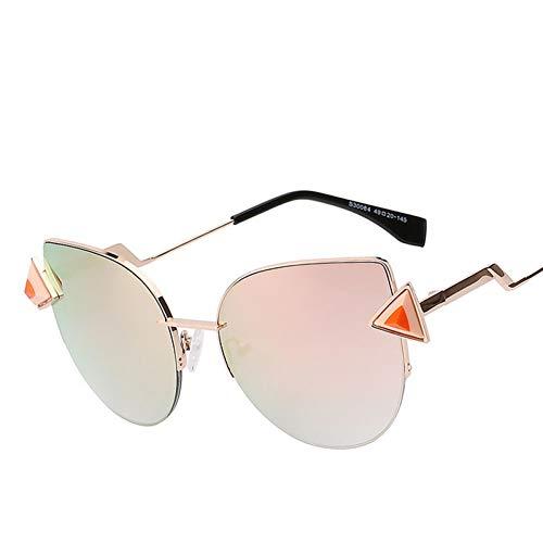 YYHV Ojo de Gato Mujer Gafas de Sol de Metal Sunglass Fashion Summer Style Sunglass Diamond Gafas Uv400