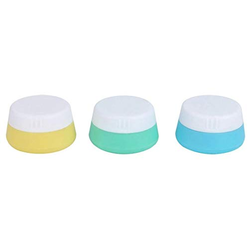 Pack of 3 Silicone Travel Makeup Containers Leak Proof Cream Jars Cosmetic Containers for Shampoo Lotion Conditioner