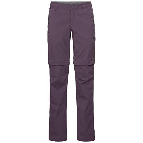 Odlo Wedgemount Pantalon Convertible pour Femme XL Violet Vintage