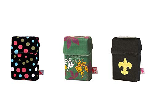 smokeshirt Regular versch. 3er Sets Angebot. Designer Zigaretten-etui Zigaretten-Box Hülle für Zigarettenschachteln (20Zigar.) 3 zum Preis für 2 (So Pretty, Flower Garden, Royal Lily)