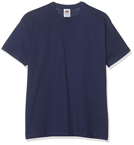 Fruit of the Loom SS132B - T-Shirt - Fille - Bleu Marine - 128 Cm, 7-8 Ans