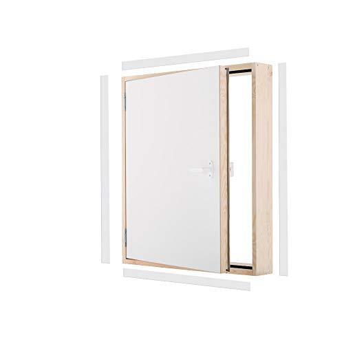 Kniestocktür Drempeltür MAXI Ud=0,7 W/m2*K Oman 90x70 Holz Abseitentür