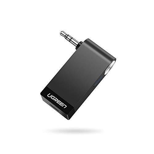 UGREEN Bluetooth Adapter Auto für Einfacheres Telefonieren und Musik Hören beim Fahren, Bluetooth Empfänger Auto mit Bluetooth Version 5.0, A2DP Technologie