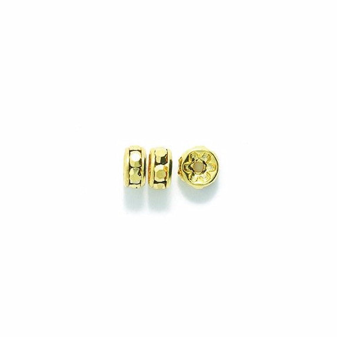Preciosa Rhinestone Rondelle Beads, 5mm, Aurum Gold, 48- pack