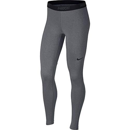 Nike W Nk Vctry Bslyr Tght Pantaloni Sportivi, Donna, Carbon Heather/Cool Grey/Black, XL