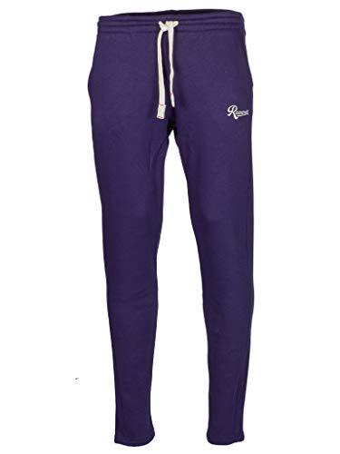 Rucanor Silver - Pantaloni da jogging da uomo, taglio dritto, per lo sport e il tempo libero Blu S
