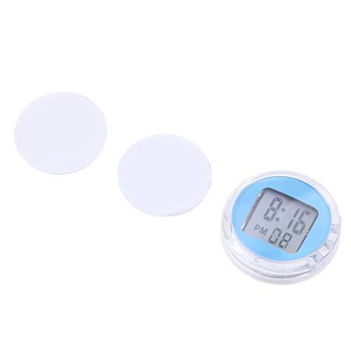 Sharplace Mini Horloge Numérique de Moto avec Heure Minutes Secondes Affichage à LED - Bleu