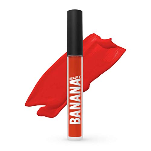 Banana Beauty Oh Baby! (3 ml) – Semi Matte Liquid Lipstick – kussechter Lippenstift matt für volle Lippen – langanhaltender Lipgloss matt – heller Rot-Ton