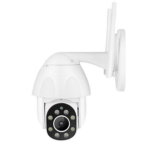 Cámara de Seguridad de 2.5 Pulgadas, 1080P HD PTZ Cámara de vigilancia con intercomunicador con luz Doble IR, Monitor de Seguimiento automático a Prueba de Lluvia, para Seguridad en el hogar(EU Plug)