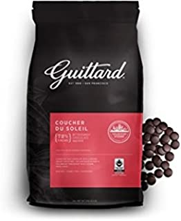 "Guittard Chocolate - ""Coucher Du Soleil"" 72% Cocoa Wafers, 3 Kg/6.6lb. Bag"
