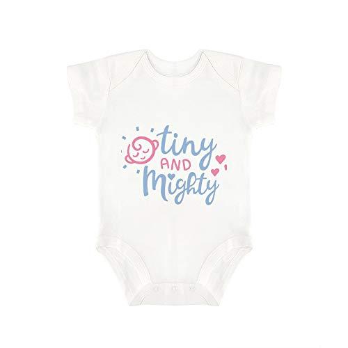 Promini Baby-Strampler, niedlich, klein und mächtig, 4 Stück Gr. 86, weiß