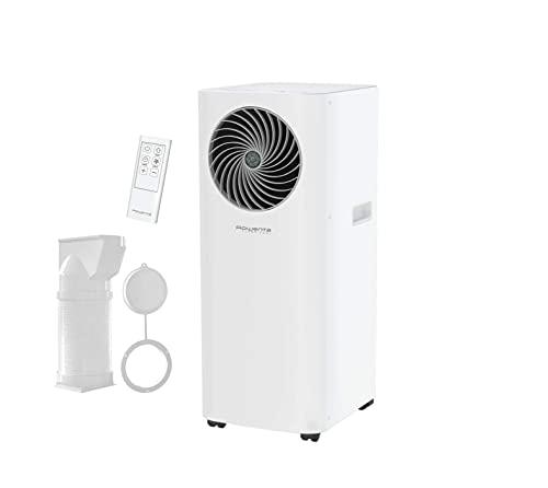 Rowenta 3 in 1 Klimagerät Turbo CoolAU5010 | Mobile Klimaanlage, Ventilator, Luftentfeuchter in Einem | Schlauch & Fernbedienung inklusive | Eco-Modus
