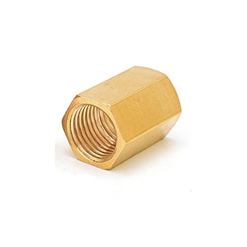 Bachangz-Manguera de latón Acoplamiento de la manguera de cobre de latón Acoplamiento HEX Acoplamiento Acoplamiento FAST Connetor Hilo hembra 1/8 '1/4' 3/8 '1/2' 3/4 'BSP, Tubería de riego de jardín
