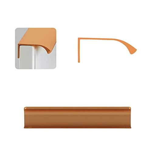 ZXDDD Versteckter Griff für die Kantenabdichtung des Griffs Drehbarer Plattformgriff für die Schublade des Küchenschranks,Gold-Gesamtlänge 150