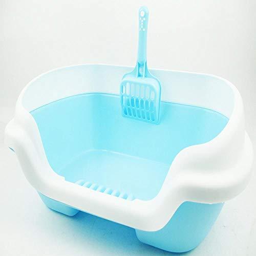 Axiba Huisdier toilet De schop salon kat Zand wastafel half gesloten kat toilet huishoudelijke plastic huisdier bedpan, C
