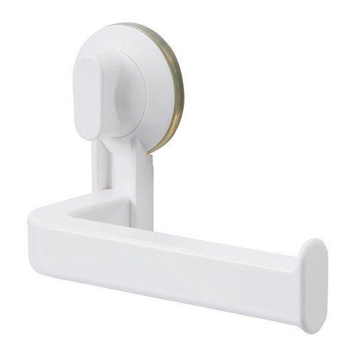 IKEA STUGVIK Toilettenpapierhalter mit Saugnapf; in weiß