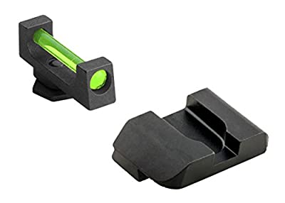 """Ultimate Arms Gear GFB-104 Glock 17,19,22,23,24,26,27,33,34,35,37,38,39 Fiber Front And Rear .130"""" wide front .165"""" notch by Ultimate Arms Gear"""