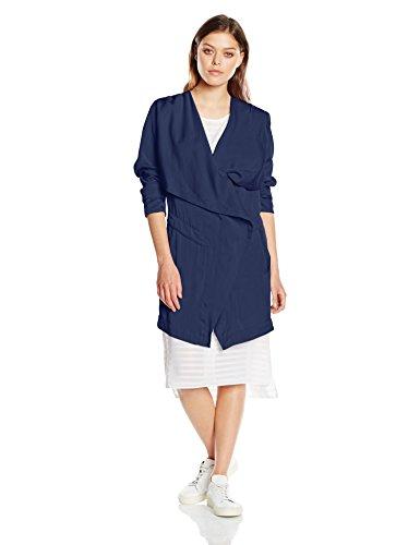 BOSS Damen ODRAPA Mantel, Blau (Dark Blue 407), 42