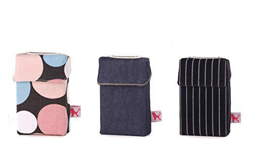 smokeshirt Regular versch. 3er Sets Angebot. Designer Zigaretten-etui Zigaretten-Box Hülle für Zigarettenschachteln (20Zigar.) 3 zum Preis für 2 (Pop, Dark Blue, Busy)