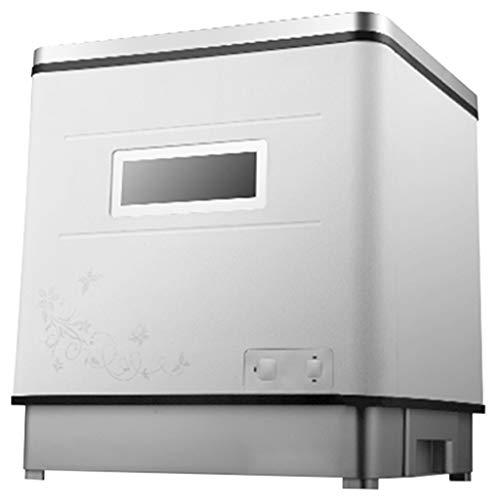 OCYE Geschirrspüler, Kleiner Haushaltsgeschirrspüler, Doppelsterilisation, Hochtemperaturreinigung, vollautomatischer Geschirrspüler Geeignet für Büro, Wohnung, Wohnmobil- (weiß)