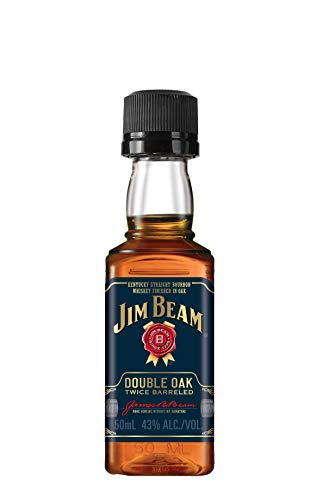 Jim Beam Bourbon Double Oak Whiskey Miniatur (1 x 0.05 l)