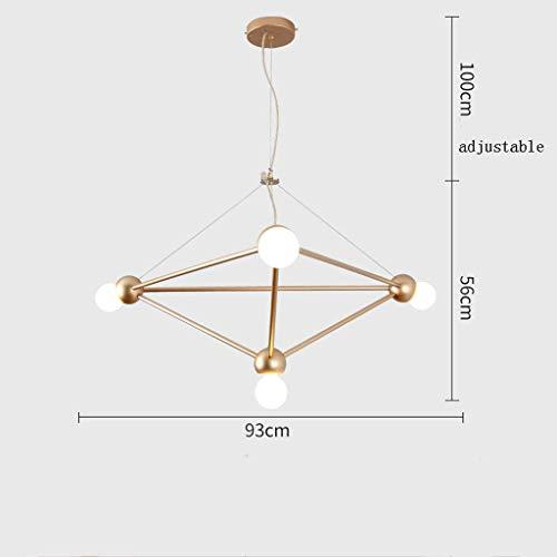 AK Moderne led kronleuchter schlafzimmer home restaurant cafe magic bean kronleuchter 56x93 cm kronleuchter,Gold,56 * 93 cm
