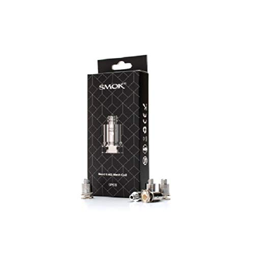 Smok Nord Replacement Coil 5Pcs - Mesh Coil 0.6Ohm for Batter Flavor for Nord Kit