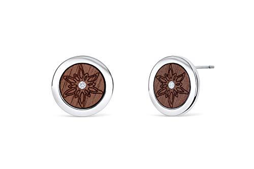 Simone Wood Edelweiss Ohrringe mit Kristallen von Swarovski®