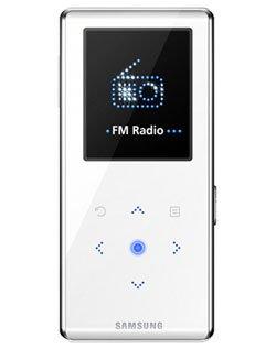 Samsung YP K3 JQ Sonder-Edition MP3-Player 2 GB (4,6 cm (1,8 Zoll) Farb OLED Display, integrierter FM-Tuner) Weiss