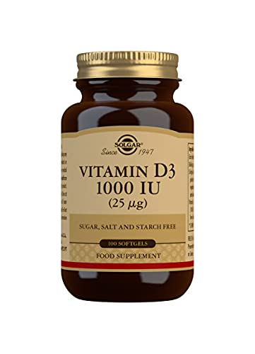 Solgar Vitamin D3 1000 Iu, Pack of 100