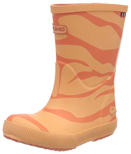 viking Classic Indie Zebra, Unisex-Kinder Gummistiefel, Orange (Coral 51), 32 EU (13 UK)