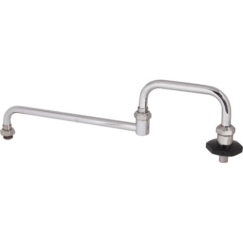 """T&S BRASS 18"""" Double-Jointed Faucet Spout with Shut-Off Lead-Free R"""