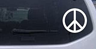 Rad Dezigns Peace Sign Symbol Car Window Wall Laptop Decal Sticker - White 3in X 3in