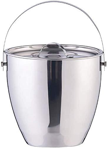 ZouYongKang Cubo de hielo portátil de acero inoxidable duradero - Refrigerador aislado de doble pared para la cocina de la barra Picnic Picnic más largo tiempo de refrigeración Lavavajillas Caja fuert
