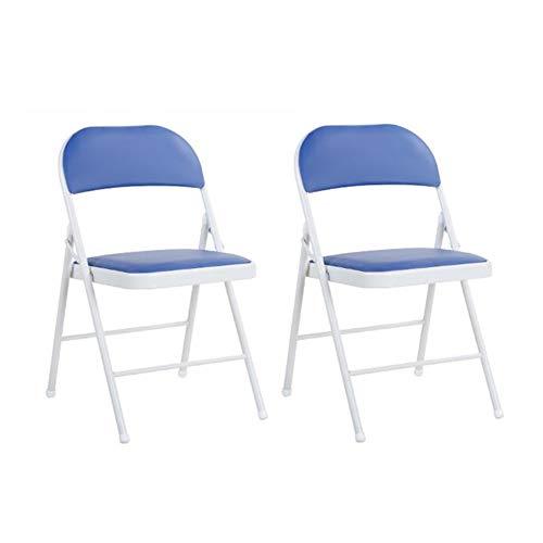 Dall Chaises Pliant Chaise en Métal Bureau Jardin Bureau Siège De Rechange Supplémentaire (Couleur : Bleu)