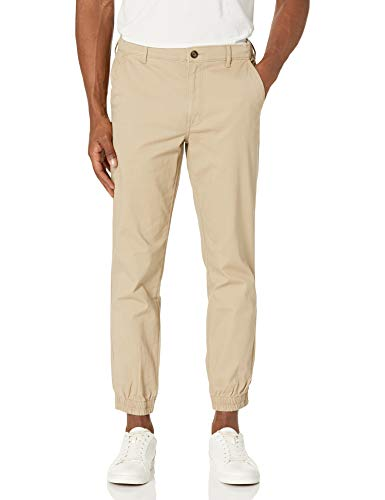 Amazon Essentials Men's Slim-Fit Jogger Pant, Khaki, Large