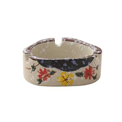 Gafas cigarro LYZ ceniceros de cerámica cenicero con Ash, Conveniente for los Regalos de Oficina Hotel Home cenicero de Porcelana de la Personalidad Creativa del Copo de Nieve (Color: A) (Color : A)