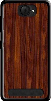 MOBILINNOV Archos 40d Titanium Bois Massif Marron Silikon Hülle Handyhülle Schutzhülle - Zubehor Etui Smartphone Archos 40d Titanium Accessoires