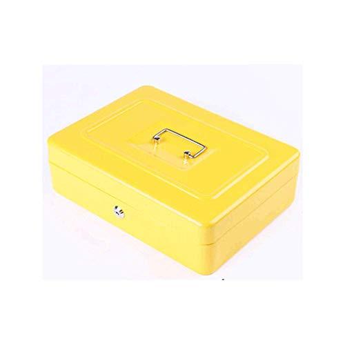qazwsx Hucha de Regalo Elegante Caja de contraseña Bloqueada Hucha Mini Cofre del Tesoro Caja de Almacenamiento de Gran Capacidad Caja de Monedas Segura Banco de Dinero Creatividad (Color: Amarillo