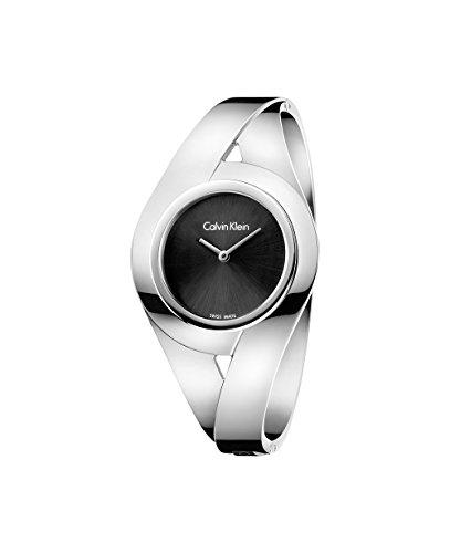 Calvin Klein Damen Analog Quarz Uhr mit Edelstahl Armband K8E2M111
