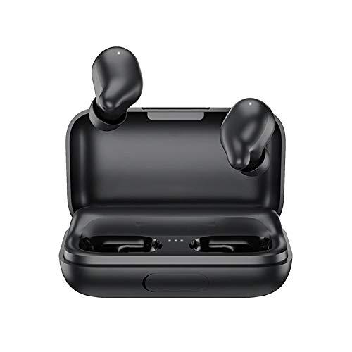Y-hm Estéreo Claro y Fuerte TWS Bluetooth 5.0 Auriculares Auriculares Auriculares Bilateral Llamada 2200mAh Power Bank Esterafonía Auriculares Sensor de Movimiento portátil (Color : Black)
