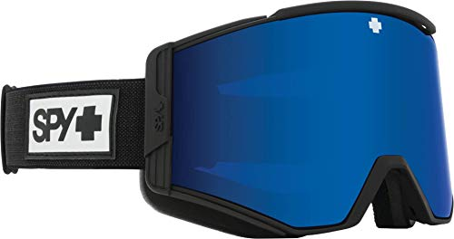 SPY Ace Matte Black - HD Plus Rose with Dark Blue Spectra Mirror - HD Plus LL Gray Green with Red Spectra Mirror