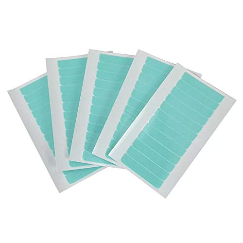 Hair Extension Tape Wig Double-Sided Tape Hair Extension System Tape Strong Hair Extension Tape Wig Tape Hot Day is Not Easy to Melt Easy to Clean Waterproof Hypoallergenic 4 × 0.8cm 60pcs/5 sheets