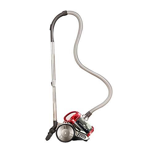 ZLININ Aspiradora compacta compacta sin bolsa cilíndrica (rojo)