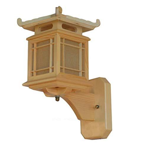 Vintage buitenwandlampen retro wandlamp antiek Chinees retro houten wandlampen-lampenlicht E27 restauranthotelslaapkamer-wandlamp-wijnlampen-lamp-armatuur Art Deco