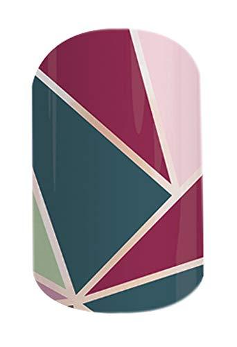 Color Crush Twist - Jamberry Nail Wraps - Full Sheet - Pink, Rose & Teal Mosaic