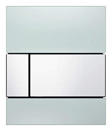 TECEsquare Urinal Betätigungsplatte aus Glas 9242801 Glas weiß Taste Edelstahl