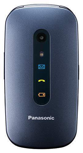 Panasonic KX-TU456 Cellulare Facilitato, Ampio Display a Colori, Tasti Grandi, Chiamate Prioritarie in Vivavoce, Bluetooth e Fotocamera, Compatibile con Apparecchi Acustici, Blu